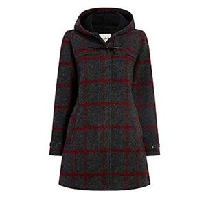 Woolrich Ember Peak Duffle Coat red plaid medium
